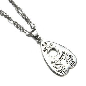 Ouija Planchette Spirit Board Silver Necklace